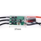 Mini 16A ESC 2-4S 20-499 Hz Electric Speed ​​Controller for Multi-roottori - musta + vihreä