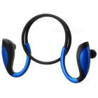 Bluetooth V4.1 Sports Neckband Earphones Headphones w/ Microphone - Black + Blue