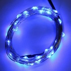 Waterproof 1.5W 50-SMD 0603 LED Copper Wire Light Strip Blue