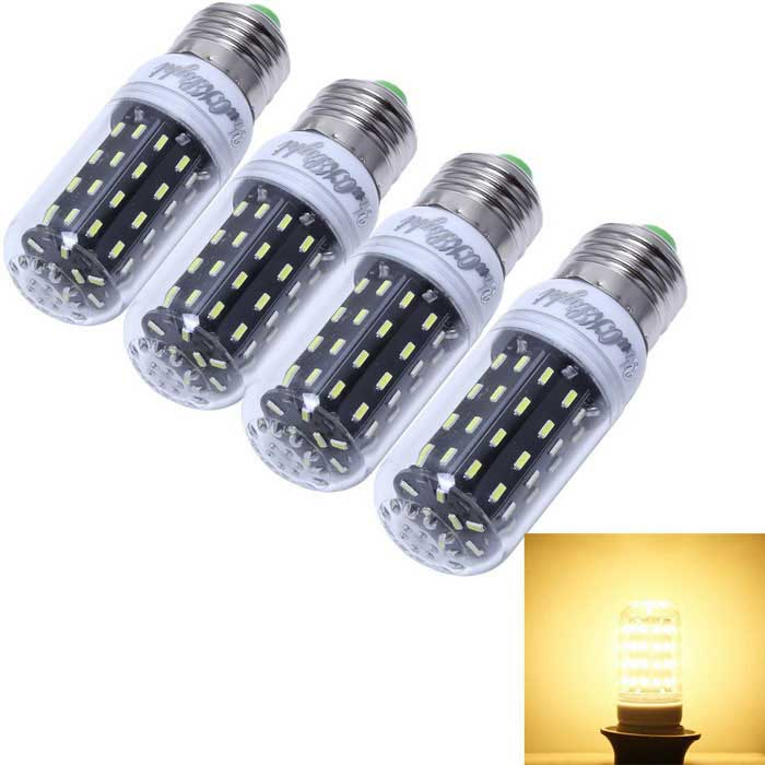 YouOKLight E27 7W LED Corn Bulb Lamp Warm White Light 3000K 600lm 56-SMD 4014 (AC 110-120V / 4PCS)