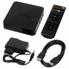 MXQ Quad-Core Android 4.4 Google TV Player w / 1GB RAM, 8GB ROM, Wi-Fi - Negro (enchufe de la UE)