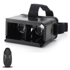 "3D Virtual Reality Glass w/ Bluetooth Control for 6"" Phone - Black"