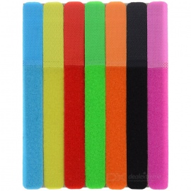 CT-01 Cables de cinta de velcro Cables Cords Management Organizer-múltiples-coloreado (7PCS)
