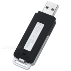 U Flash Disk Type Digital Voice Recorder Support TF Card - Black