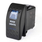 IZTOSS 5pins Blue ROOF Lights Rocker Switch for Marine / RV / Boat / Car (12~24V)