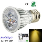YouOKLight E27 5W 450lm 3000K Warm White Light 5-High Power LED Spotlight (AC 85-265V)