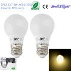 YouOKLight E27 5W 10 SMD 5730 400lm 3000K Warm White Light Ceramic LED žárovky (2ks)