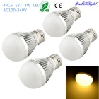 YouOKLight E27 3W 6-SMD 5730 260lm Warm White Light LED Globe Bulbs (AC 100-240V, 4PCS)