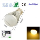 YouOKLight E27 3W 6-SMD 5730 260lm Warm White LED Light Globe Lâmpadas (AC 100-240V, 4PCS)