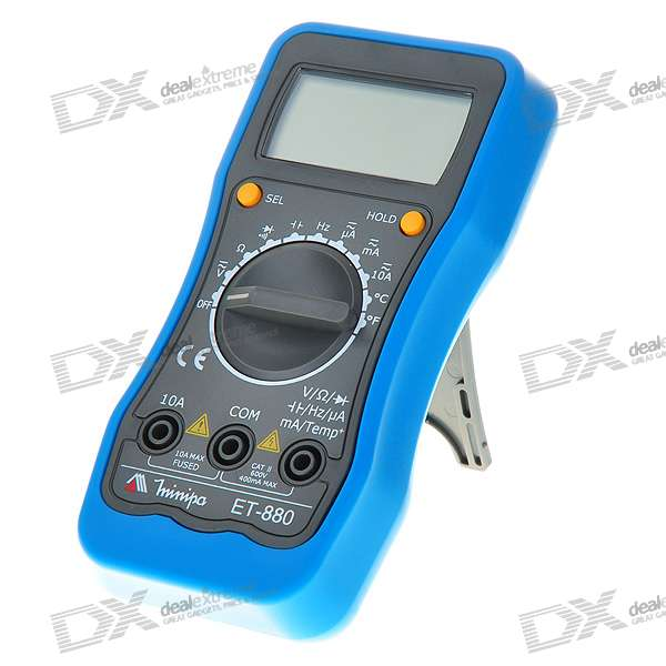 "Minipa ET-880 2.0"" LCD Digital Multimeter (Voltage + Current + Resistance + Temperature /2*AAA)"