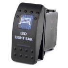 IZTOSS 5pins DC n12V/24V LED Light Bar ON-OFF Rocker Switch for Marine RV Boat Car - Black