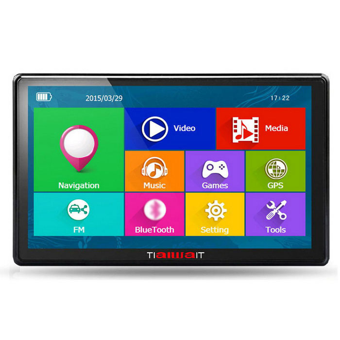 "TiaiwaiT 7"" HD Capacitive Screen Win CE Car GPS Navigator w/ BR+AR Map"