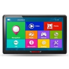 "TiaiwaiT 7"" HD Capacitive Screen Win CE Car GPS Navigator w/ 256MB RAM, 8GB ROM, BR+AR Map - Black"