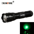 KINFIRE WF502 XPE R3 LED 250lm 3-Mode Bicycle Green Light Flashlight w/ Clip + 18650 Battery