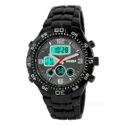 SKMEI 1030 Metal Strap Dual Display Outdoor Sports Watch - Black (1 x CR2025 / 1 x SR626SW)