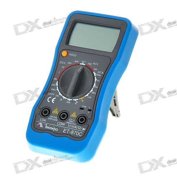 "MINIPA ET-870C 2.0"" LCD Digital Multimeter (Voltage + Current + Resistance + Temperature / 1*6F22)"