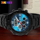 SKMEI 1030 bracelet métal double affichage Outdoor Sports Watch - Bleu + Noir (1 x CR2025 / 1 x SR626SW)