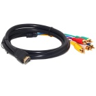 HDMI to 5RCA Male Audio Video Component Convert Cable for HDTV 1080P - Black (1.5m)