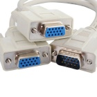 VGA 1 to 2 Splitter Monitor Video Cable - White (30cm)