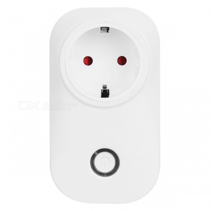 Wi-Fi Smart Socket Outlet Remote Control Timing Function - White (EU Plug / 100~240V)