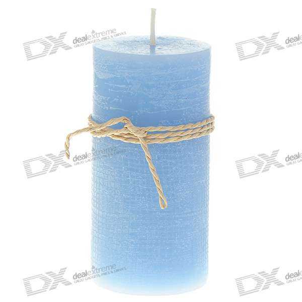 Charming Smokeless Vanilla Scented Column Candle - Blue