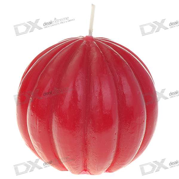 Charming Smokeless Vanilla Scented Pumpkin Candle - Red
