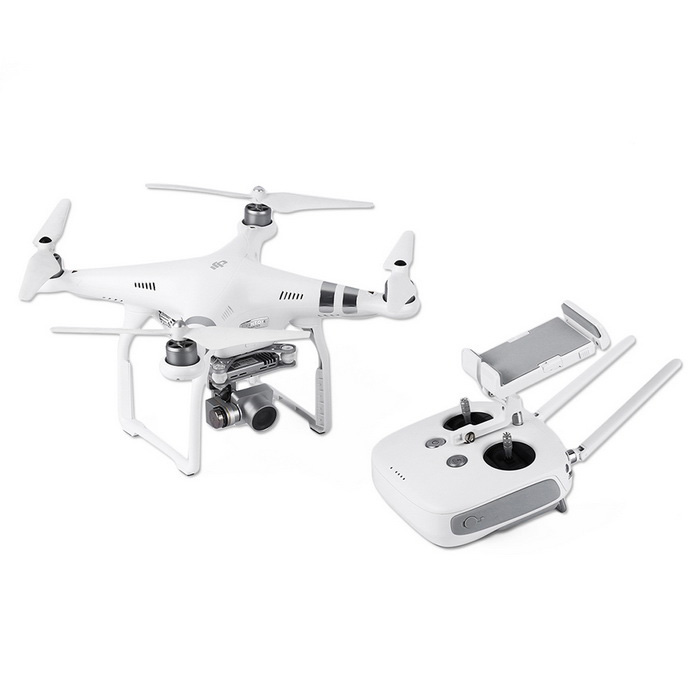 DJI Phantom 3 Advanced 12MP 1080P/60FPS HD 3-Axis Gimbal Quadcopter - Silver + White