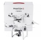 DJI Phantom 3 Advanced 12MP 1080P / 60FPS HD 3-Axis карданный подвес Quadcopter - Серебро + белый