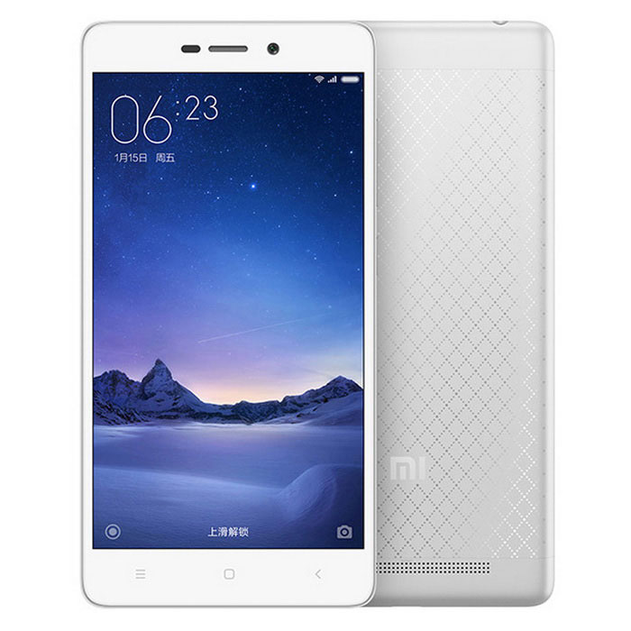 Xiaomi Redmi 3 Android 5.1 Octa-core SmartphoneAndroid Phones<br>Form  ColorSilver WhiteRAM2GBROM16GBBrandXiaomiModelRedmi 3Quantity1 DX.PCM.Model.AttributeModel.UnitMaterialAluminum alloy + plasticShade Of ColorSilverTypeBrand NewPower AdapterUS PlugsHousing Case MaterialAluminum alloyTime of Release2016-1-11Network Type2G,3G,4GBand Details2G: GSM B2/3/5/8 3G: CDMA EVDO BC0 3G: WCDMA B1/2/5/8 3G: TD-SCDMA B34/39 4G: TD-LTE B38/39/40/41 4G: FDD-LTE B1/3/7Data TransferGPRS,LTENetwork ConversationOne-Party Conversation OnlyWLAN Wi-Fi 802.11 b,g,nSIM Card TypeMicro SIM,Nano SIMSIM Card Quantity2Network StandbyDual Network StandbyGPSYesInfrared PortYesBluetooth VersionOthers,V4.1+ HIDOperating SystemAndroid 5.1CPU ProcessorQualcomm Xiao dragon 616CPU Core QuantityOcta-CoreLanguageSimplified Chinese, Traditional Chinese, German, Indonesian, Malay, English, Spanish, French, Italian, Hungarian, Dutch, Portuguese, Romanian, Vietnamese, Russian, Turkish, Greek, Hebrew, Arabic, Thai, KoreanGPUAdreno 405Available MemoryN/AMemory CardMicro SD CardMax. Expansion SupportedSupport TF card up to 128GB extendedSize Range5.0~5.4 inchesTouch Screen TypeTFTScreen Resolution1280*720Screen Size ( inches)5.0Camera Pixel13.0MPFront Camera Pixels5.0 DX.PCM.Model.AttributeModel.UnitFlashYesTouch FocusYesTalk Time9-12 DX.PCM.Model.AttributeModel.UnitStandby Time264 DX.PCM.Model.AttributeModel.UnitBattery Capacity4000 DX.PCM.Model.AttributeModel.UnitBattery ModeNon-removablefeaturesWi-Fi,GPS,FM,BluetoothSensorG-sensor,ProximityWaterproof LevelIPX0 (Not Protected)I/O InterfaceMicro USB,3.5mmUSBMicro USB v2.0Format SupportedMP3/WAV/MID/AMR/MP4/3GP/M4A/RM/RMVB/WMV/JPEG/PNG/GIF/BMP/Reference Websites== Will this mobile phone work with a certain mobile carrier of yours? ==Packing List1 x Cellphone1 x Data cable (115cm)1 x US plug power adapter (100~240V)<br>