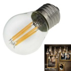 NEW E27 4W 360lm 3000K Warm White 4-LED Filament Bulb (220~240V)
