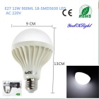 Youoklight E27 12W 18-SMD 5630 kaltes weißes Licht LED-Kugelbirne