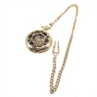 W25 Men's Retro Zinc Alloy Mechanical Analog Pocket Watch - Golden