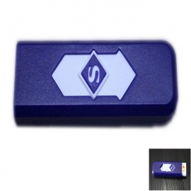 USB Rechargeable Windproof Electronic Cigarette Lighter - Sapphire Blue