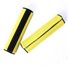 Car Motor Detachable Nylon Fastener Seatbelt Cover Pad - Yellow (Pair)