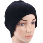 Multifunctional 2.4GHz Wireless Bluetooth Knitted Winter Hat Cap w/ Hands-Free Calls - Black
