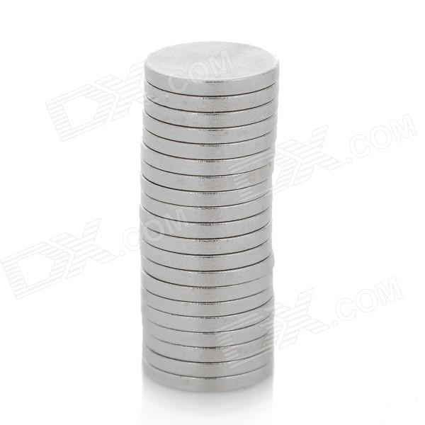 de super-forte re-ímãs de terras raras - prata (8mm / 20PCS)