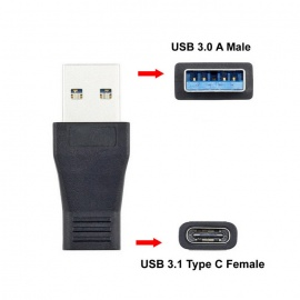 Cwxuan USB 3.1 Type C Female to USB 3.0 A Male Data Charging Adapter for Phone / MACBOOK - Black