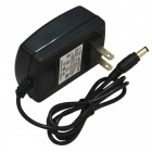 JIAWEN 110~240V to DC 12V 2A Power Supply Adapter Converter - Black (US Plug)