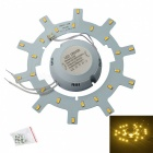 JW 12W 24-SMD 5730 1200lm 3200K Warm White Light Source w/ Magnetic Nails for Ceiling Lamp