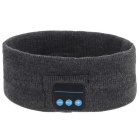 Rechargeable Flexible Sports Bluetooth V3.0 Wide Head Band w/ Microphone - Ash Black