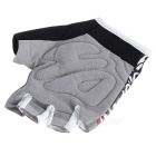 MOke Cycling Riding Anti-Shock Half-Finger Gloves - Grey + Red (L)