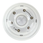Super Bright 260lm 6 LED White Light Wireless Auto PIR Motion Sensor Light - White