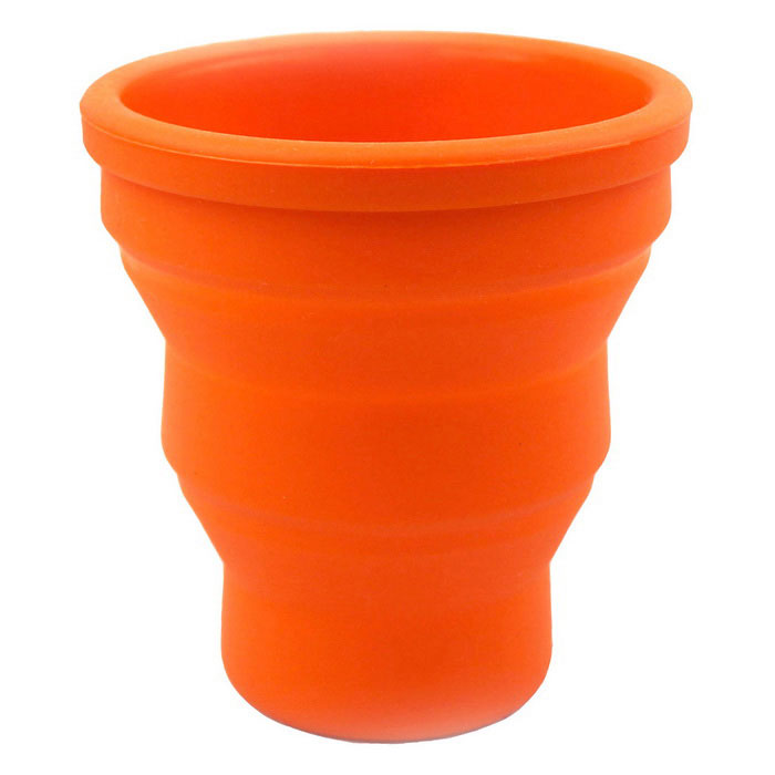 Folding Portable Silicone Camping Travel Cup - Oranje