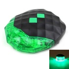 Diamond Bicycle Laser Taillight 5-LED 7-Mode Warning Light - Green + Black
