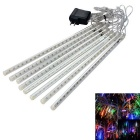 JIAWEN Waterproof 30cm 8-Tube RGB Meteor Rain Light Decoration Tube Lights (US Plug, AC 110-220V)