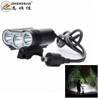 ZHISHUNJIA LR-X3 3000lm CREE XM-L T6 4-Mode White Bike Light - Black (4*18650)