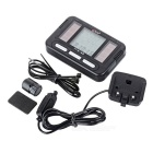 "BOGEER 1.5"" Screen 20-Function Solar Powered Water-Resistant Wired Bike Computer - Black (1*CR2032)"