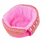 Wind Tour Outdoor Cycling Hiking Mountaineering Windproof Warm Snow Hat - Deep Pink