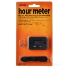 "Waterproof 1.0"" Vibration Hour Meter for Motorcycle ATV Snowmobile Boat - Black"