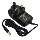 Jiawen UK Plug DC 12V 2A AC Power Charging Adapter Charger - Black (AC 110-240V)